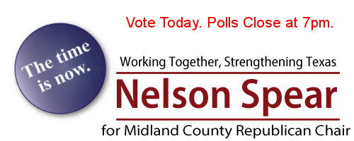 Nelson Spear Vote Today The Time Is Now