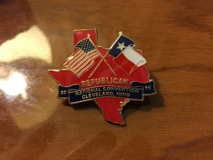 RNC 2016 Texas Delegation Pins